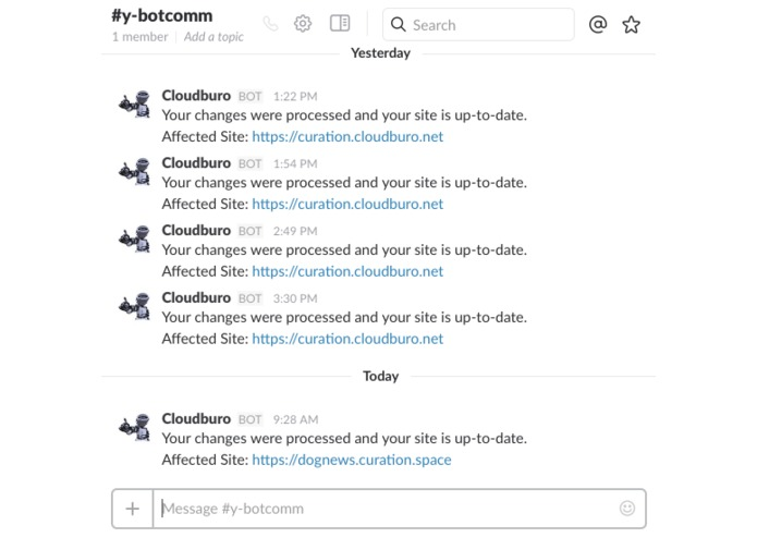 Publishing Bot – screenshot 2