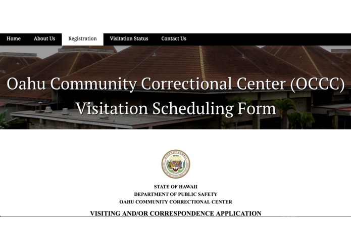 HATS TEAM: OCCC Family Visitation Scheduling – screenshot 1
