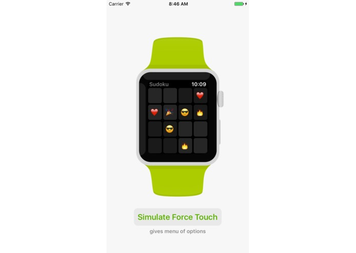WatchKit for iOS (simulate Apple Watch apps on iPhone) – screenshot 1
