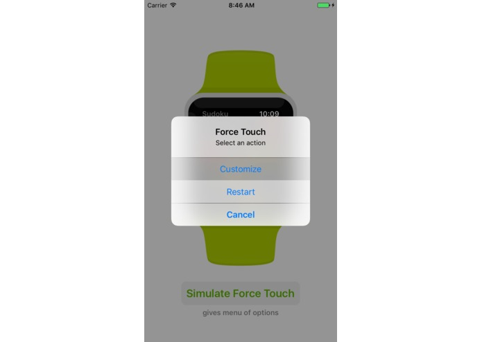 WatchKit for iOS (simulate Apple Watch apps on iPhone) – screenshot 2