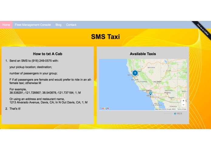 SMS_Taxi – screenshot 2