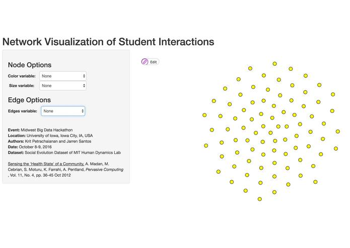 Network Visualization of Student Interactions – screenshot 1