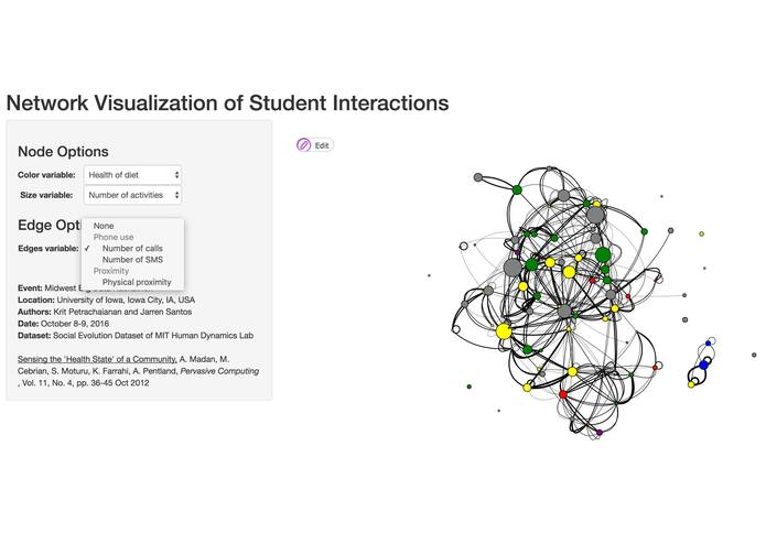 Network Visualization of Student Interactions – screenshot 3