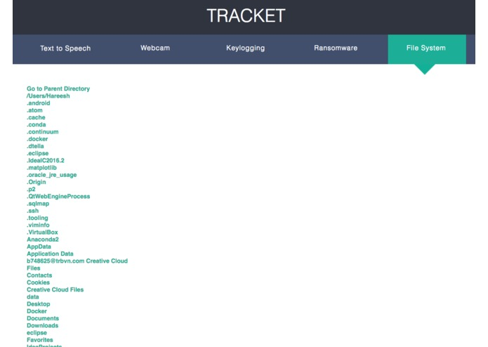 Tracket – screenshot 1