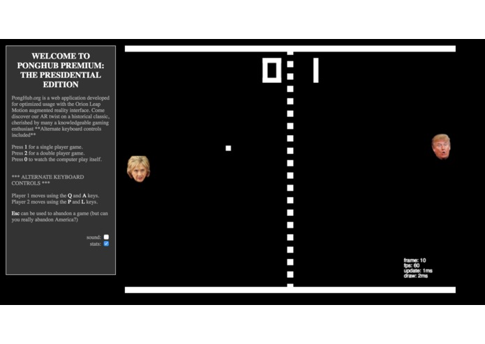 Pong Hub Presidential Version – screenshot 1