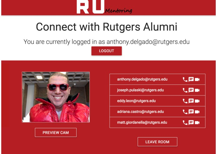 RUMentoring-A mentorship platform for Rutgers Students – screenshot 3