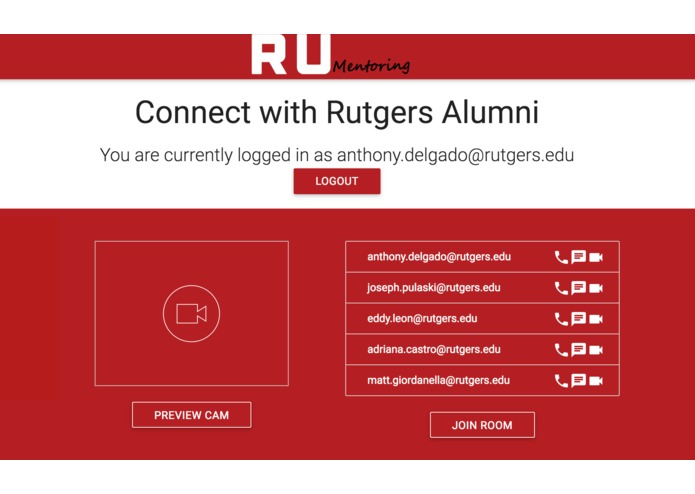 RUMentoring-A mentorship platform for Rutgers Students – screenshot 2
