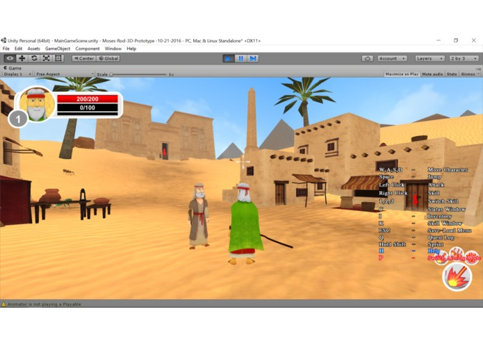 Moses Rod 3D Bible Adventure Game Programming Tutorial | Devpost
