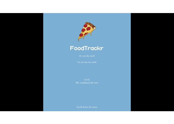 FoodTrackr – screenshot 1