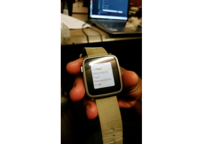 Pebble Activity Watch App (PACT) – screenshot 3