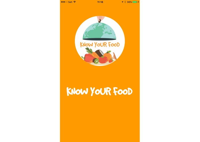 Know your food – screenshot 1