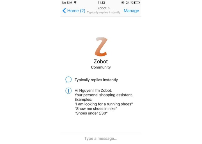 Zobot – screenshot 1