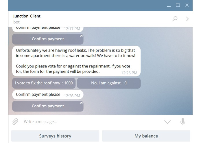 PayBot – screenshot 1