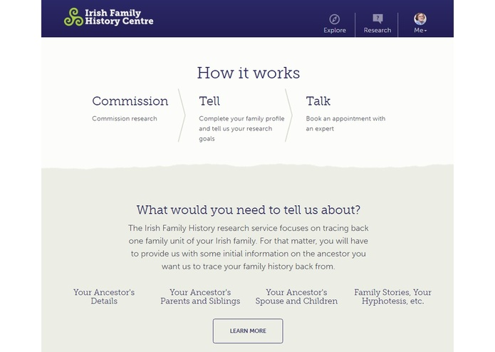 Irish Family History Centre – screenshot 7