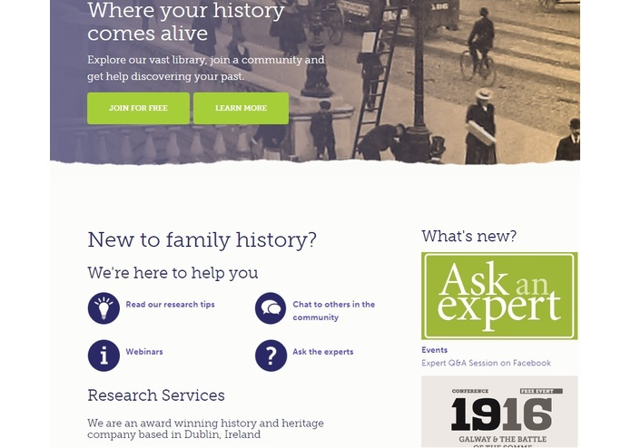 Irish Family History Centre – screenshot 1
