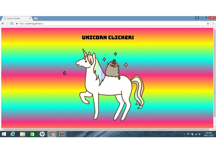 Unicorn Clicker! – screenshot 1