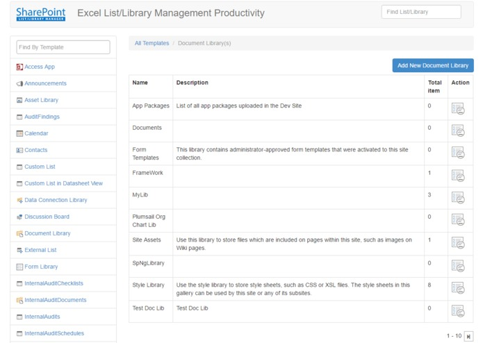 SharePoint List/Library Manager – screenshot 1