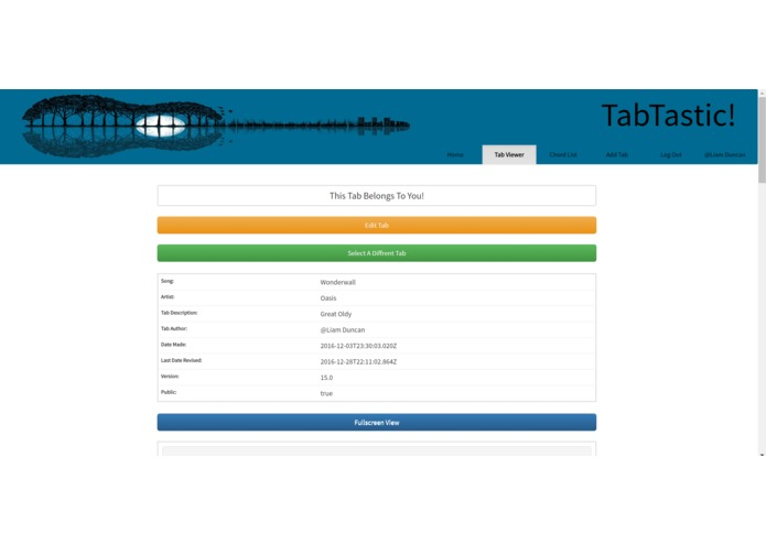 Tabtastic - Guitar Chord Sheet Sharing Site – screenshot 7