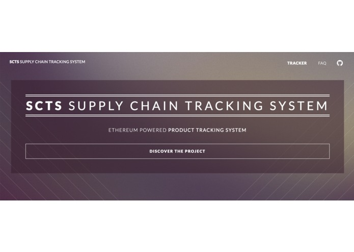 SCTS - Supply Chain Tracking System – screenshot 1