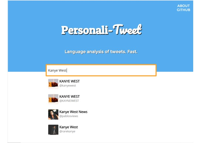 Personali-Tweet – screenshot 2