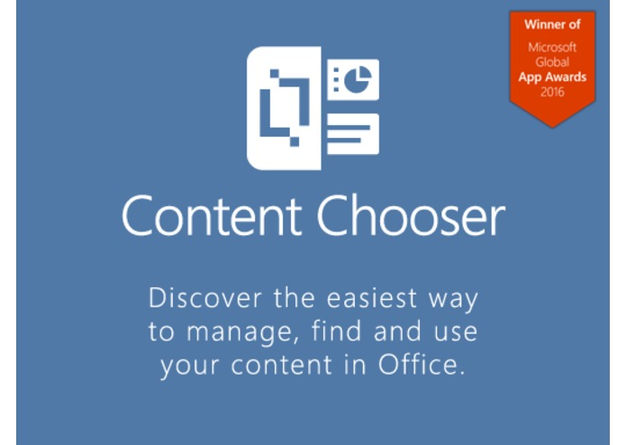 Content Chooser for Outlook – screenshot 1