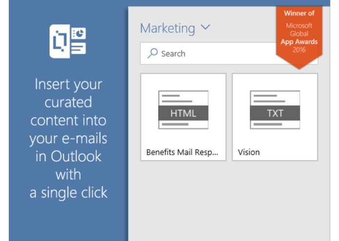 Content Chooser for Outlook – screenshot 2