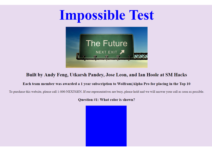 Impossible Test – screenshot 1