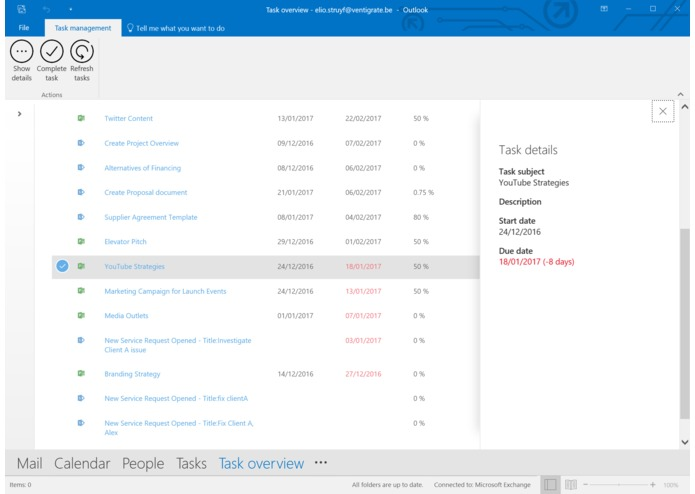 Outlook task manager – screenshot 3