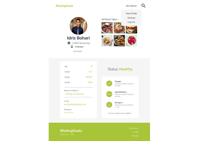 #EatingGoals – screenshot 2