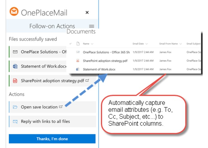 OnePlaceMail for SharePoint Online – screenshot 5