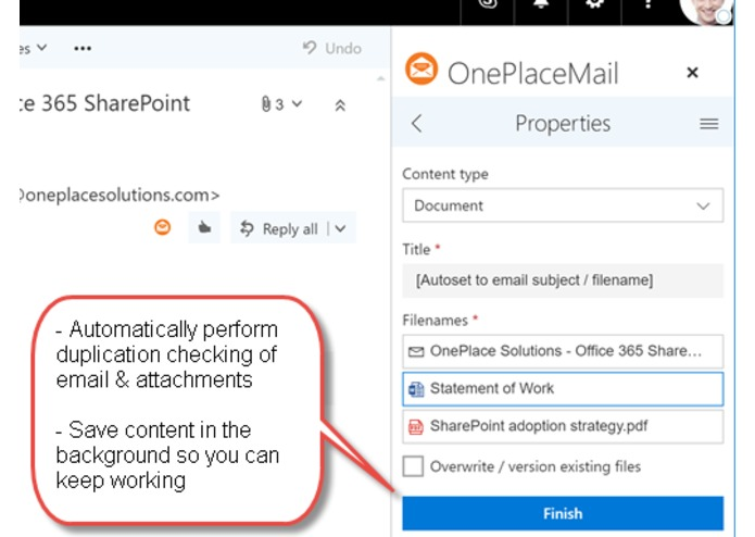 OnePlaceMail for SharePoint Online – screenshot 4