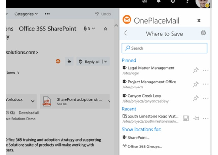 OnePlaceMail for SharePoint Online – screenshot 3