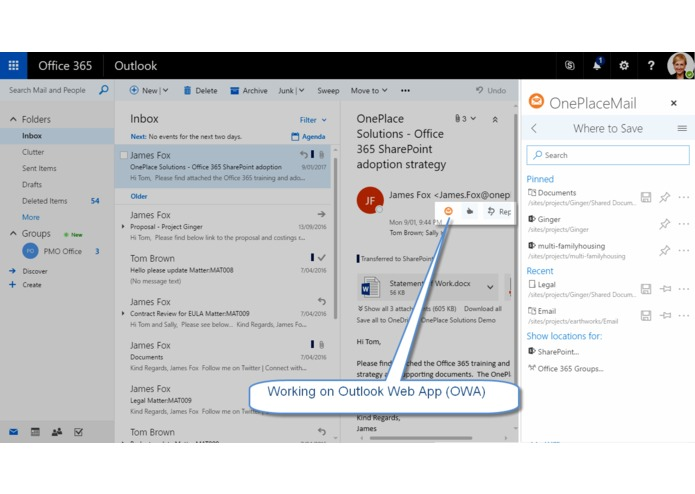 OnePlaceMail for SharePoint Online – screenshot 7