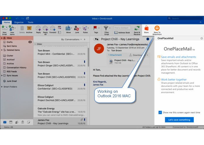 OnePlaceMail for SharePoint Online – screenshot 6