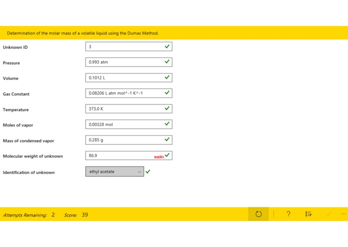 Chem Lab Grader – screenshot 1