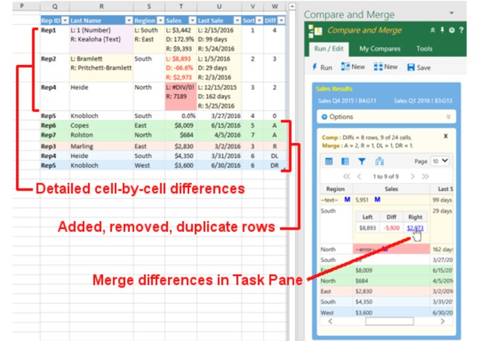 Excel Compare and Merge Add-in – screenshot 1