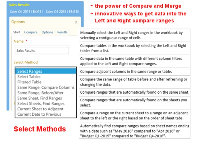 Excel Compare and Merge Add-in – screenshot 2
