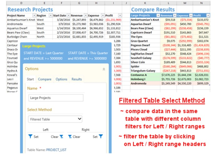 Excel Compare and Merge Add-in – screenshot 4