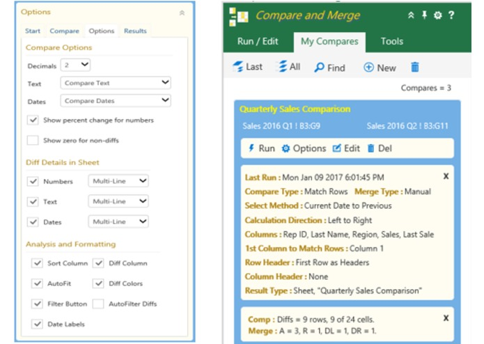 Excel Compare and Merge Add-in – screenshot 5