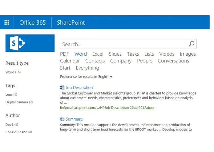 Instant Search for SharePoint – screenshot 1