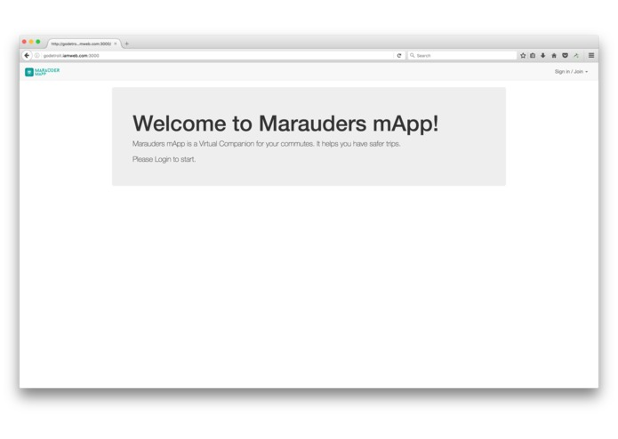 Marauder mApp V2 – screenshot 1