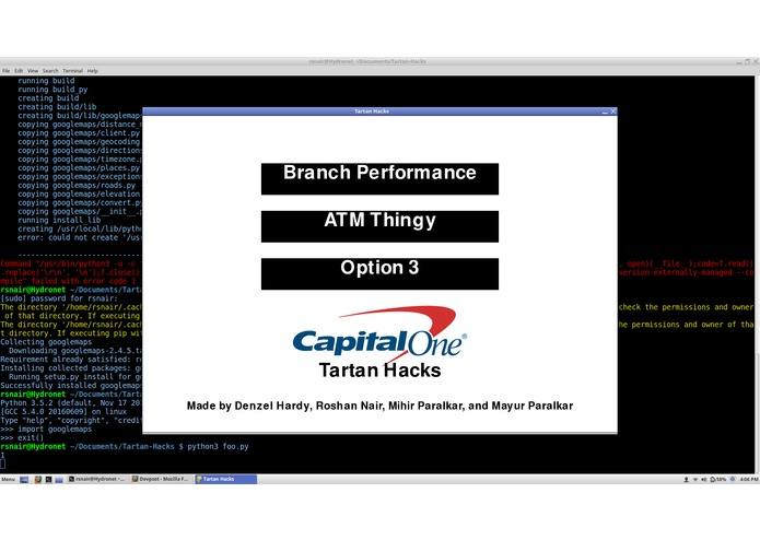 Capital One Data Visualizer – screenshot 1
