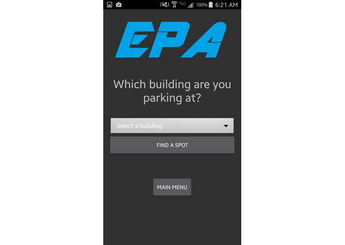 EPA (Efficient Parking Application) - Table 16A – screenshot 2