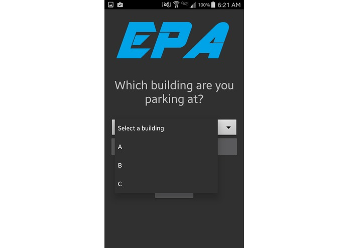 EPA (Efficient Parking Application) - Table 16A – screenshot 3