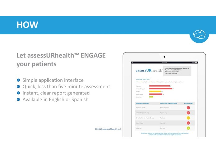 assessURhealth™ – screenshot 3