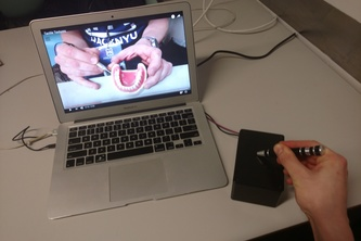 Tactile video for dental simulations