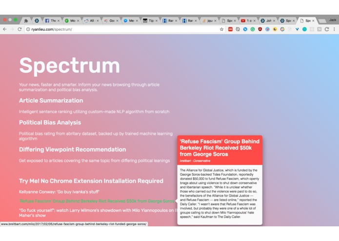Spectrum – screenshot 1