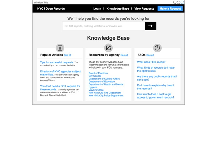 NYC OpenRecords UX Hackathon – screenshot 3