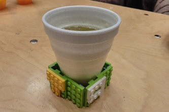 """No Coding Hack - """"T9"""" cup holder made with blocks"""