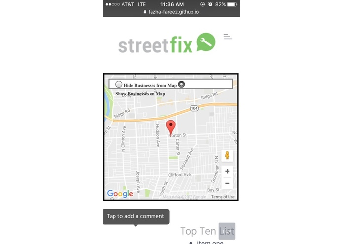 StreetFix – screenshot 2